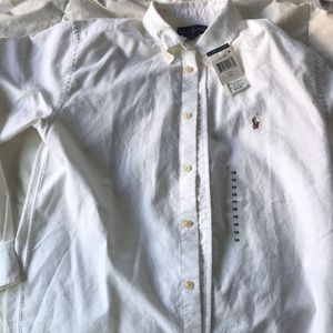 Brand new Ralph Lauren white button down